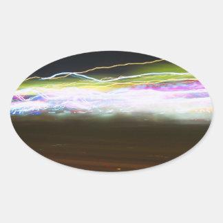 Rastros abstractos de la luz calcomanías de ovales personalizadas