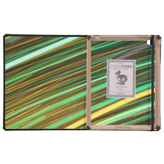Rastros de la luz ámbar verde y iPad carcasa