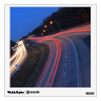 Rastros de la luz de Harrisburg Pennsylvania I-81 Vinilo Decorativo