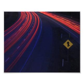 Rastros de la luz de la cola del tráfico de fotografías