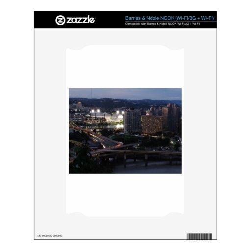 Rastros de la luz de Pittsburgh Calcomanías Para NOOK