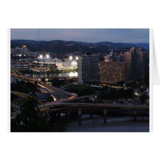 Rastros de la luz de Pittsburgh Tarjeton