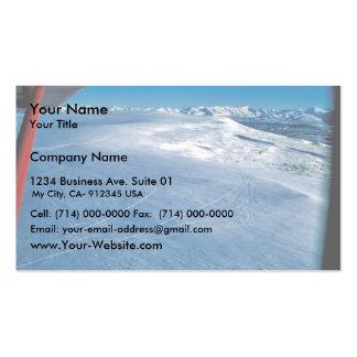 Rastros de las colinas de la perdiz nival en invie tarjetas de visita