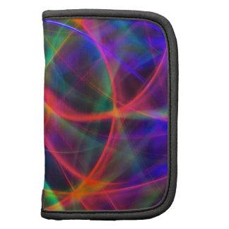 rastros de luces coloridas planificador