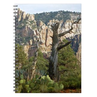 Rastros de montañas de Sedona Cuaderno