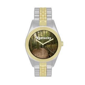 Rastros del caballo de Kentucky Reloj De Mano