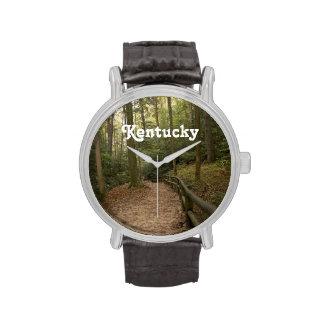 Rastros del caballo de Kentucky Reloj