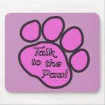 Rastros del perro, charla a la pata - negro rosado