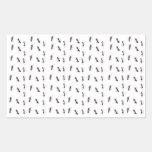 Rastros felices - hormiga #1 rectangular pegatina