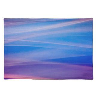 Rastros ligeros del color del extracto de la mantel individual