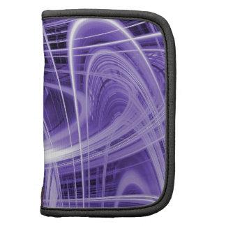 Rastros púrpuras de la luz planificador