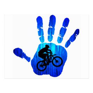 Rastros sagrados de la bici tarjetas postales