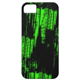 rastros verdes de la pintura funda para iPhone 5 barely there