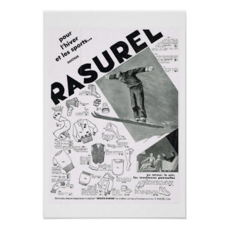 Rasurel Ski wear Poster