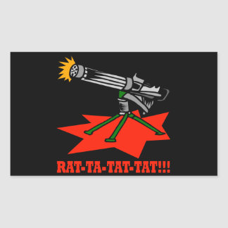 Rat A Tat Tat Rectangular Sticker