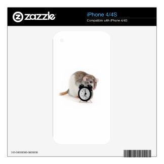 Rat and alarm clock. iPhone 4S decals