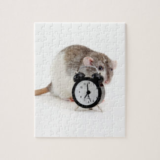 Rat and alarm clock. jigsaw puzzle
