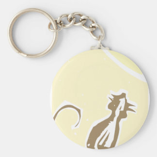Rat and Cheese Keychain