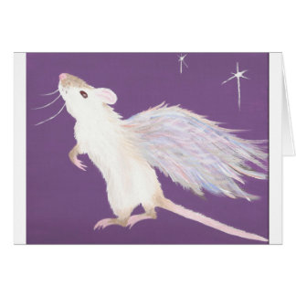 Rat angel greeting card! card