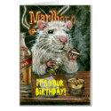 Rat bad habits smoking drinking Card