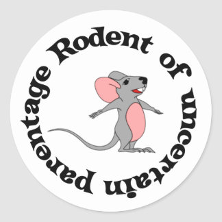 Rat Bastard Classic Round Sticker