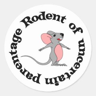 Rat Bastard Classic Round Sticker