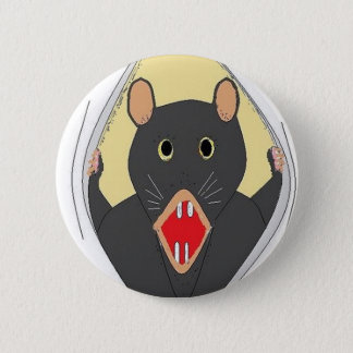 Rat Breaking Out Pinback Button