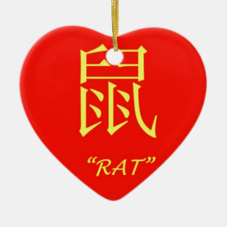 """""""Rat"""" Chinese astrology sign Ceramic Ornament"""