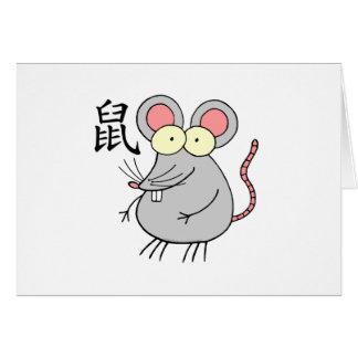 Rat Chinese Zodiac Card