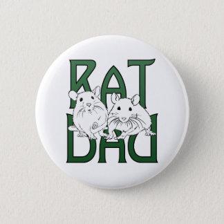 Rat Dad Green Gradient Pinback Button