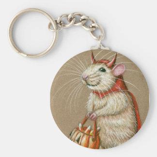 Rat Devil Halloween keychain