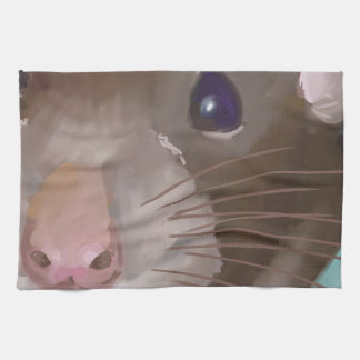 Rat face kitchen towel