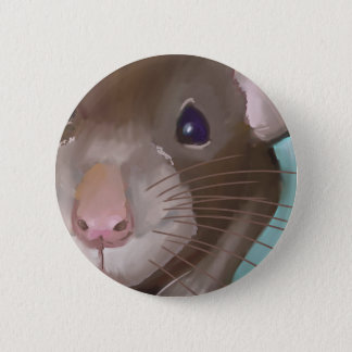 Rat face pinback button
