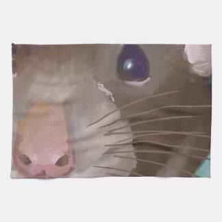 Rat face towels