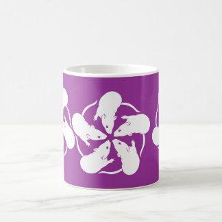 Rat Flowers Classic White Coffee Mug