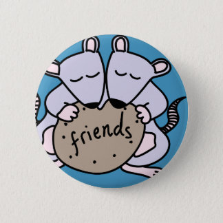 Rat friends pinback button