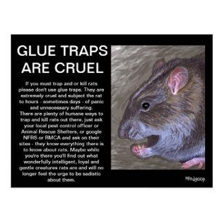 rat glue traps are cruel postcard