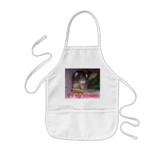 rat got the cookie kids' apron
