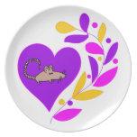 Rat Heart Party Plates