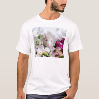 Rat in flowers. T-Shirt