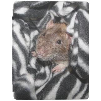 rat in zebra print blanket iPad screen cover iPad Cover