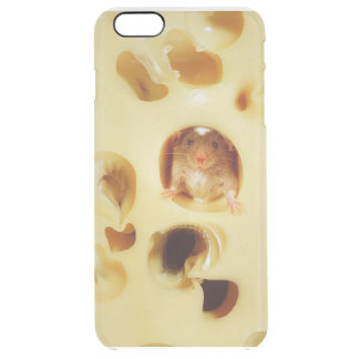 rat is eating cheese clear iPhone 6 plus case