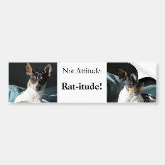 Rat-itude! Car Bumper Sticker