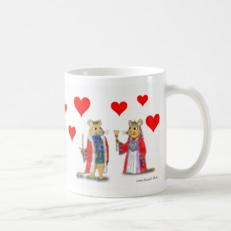 Valentine Coffee Cups of the King and Queen of Hearts | Sea