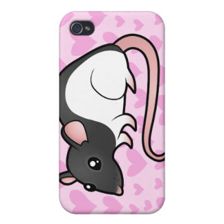 Rat Love (add your own background!) iPhone 4 Cover