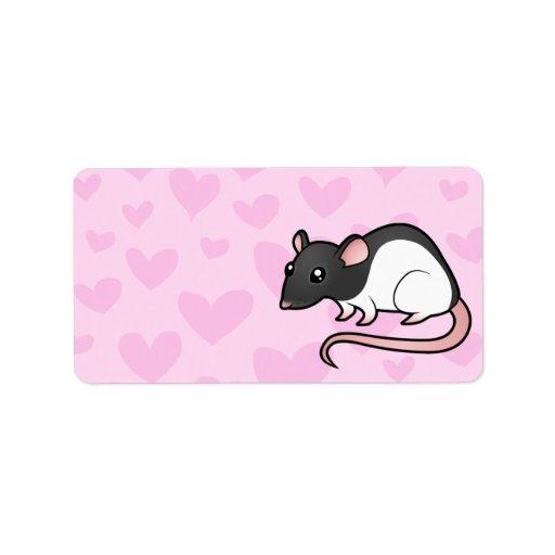 Rat Love Address Label