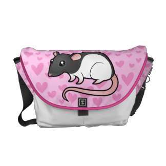 Rat Love Messenger Bags