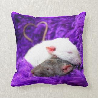 rat love throw pillow