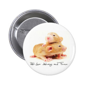Rat Lover Always and Forever Button