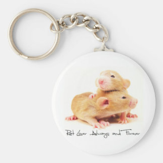 Rat Lover Always and Forever Keychain